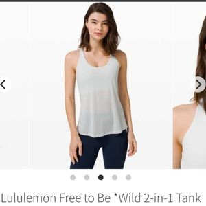 RARE NWOT Lululemon Free to be *Wild 2-in-1 Tank